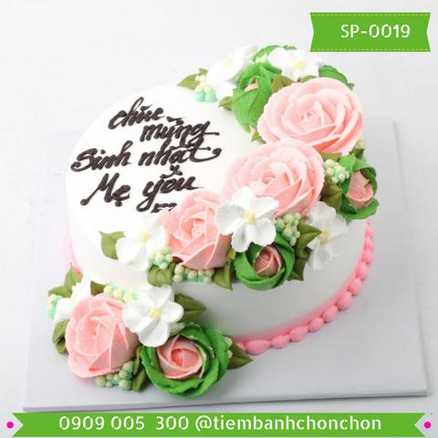 Bánh Kem Bắt Hoa Hồng Dễ Thương MS SP-0019
