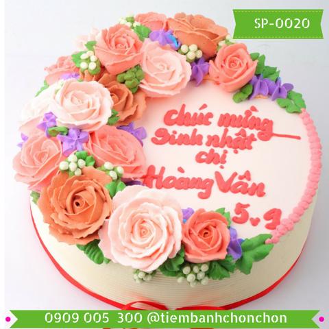 Bánh Kem Bắt Hoa Hồng Dễ Thương MS SP-0020