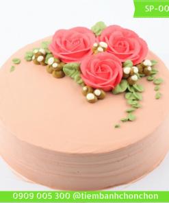 Bánh Kem Bắt Hoa Hồng Đơn Giản Đẹp MS SP-0045