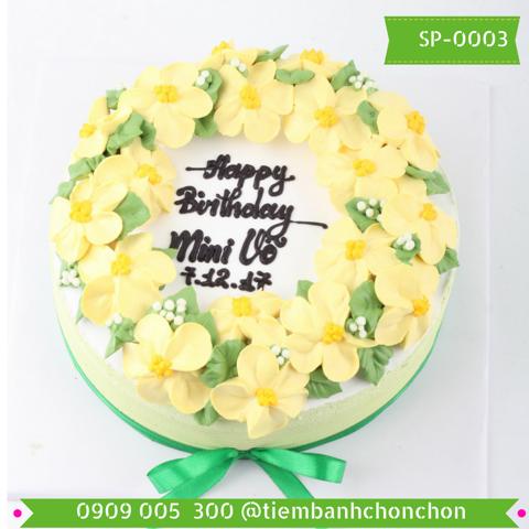 Bánh Kem Bắt Hoa Nhỏ Dễ Thương MS SP-0003