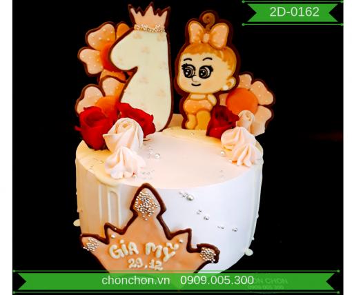 Bánh Kem Cao Dành Cho Bé Gái Dễ Thương MS 2D-0162
