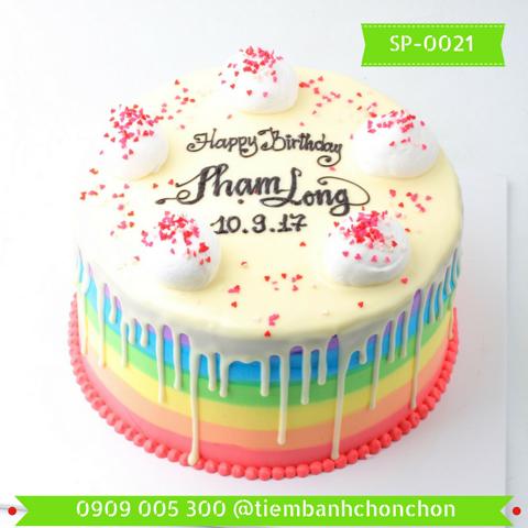 Bánh Kem Cao Trang Trí Đơn Giản Dễ Thương MS SP-0021