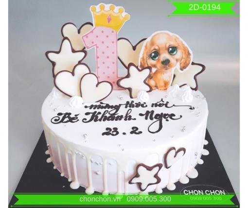 Bánh Kem Cho Bé Gái Dễ Thương MS 2D-0194