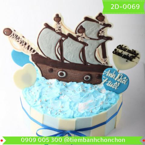 Bánh Kem Dành Cho Bé Thích Biển MS 2D-0069