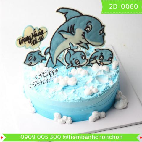 Bánh Kem Dành Cho Bé Yêu Thích Cá Và Biển MS 2D-0060