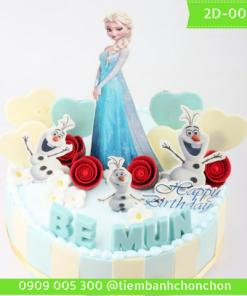 Bánh Kem Dễ Thương Dành Cho Bé Gái Thích Công Chúa Elsa MS 2D-0066