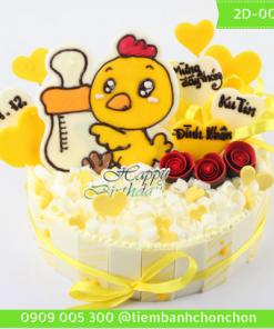 Bánh Kem Dễ Thương Hình Bé Gà Dành Cho Bé Tuổi Gà MS 2D-0032