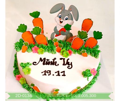 Bánh Kem Dễ Thương Hình Thỏ Dành Cho Bé Gái MS 2D-0134