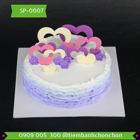 Bánh Kem Dễ Thương Trang Trí Đơn Giản Dành Cho Bạn Gái MS SP-0007