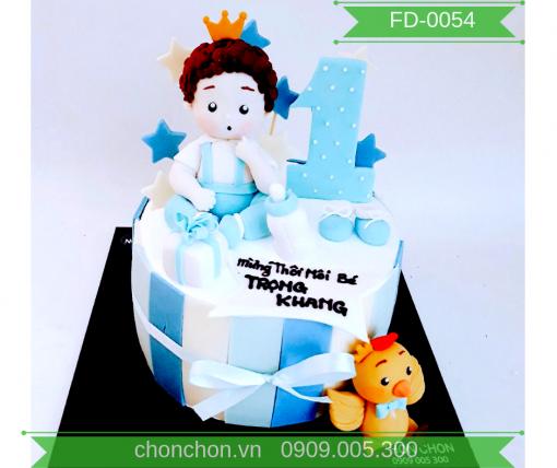 Bánh Kem FonDant Dễ Thương Dành Cho Bé Trai MS FD-0054