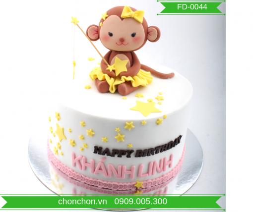 Bánh Kem FonDant Dễ Thương Dành Cho Bé Tuổi Khỉ MS FD-0044