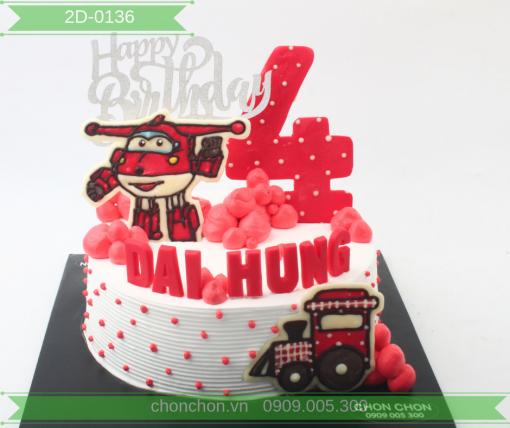 Bánh Kem Hình Máy Bay Dễ Thương Dành Cho Bé Trai MS 2D-0136