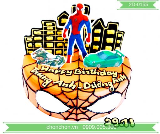 Bánh Kem Hình Người Nhện Dễ Thương Cho Bé Trai MS 2D-0155