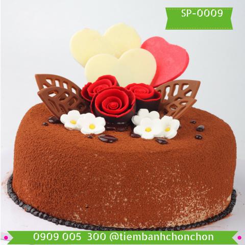Bánh Kem Phủ CaCao Trang Trí Đơn Giản Dễ Thương MS SP-0009