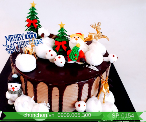 Bánh Kem Phủ Socola Dễ Thương Dành Cho Noel MS SP-0154