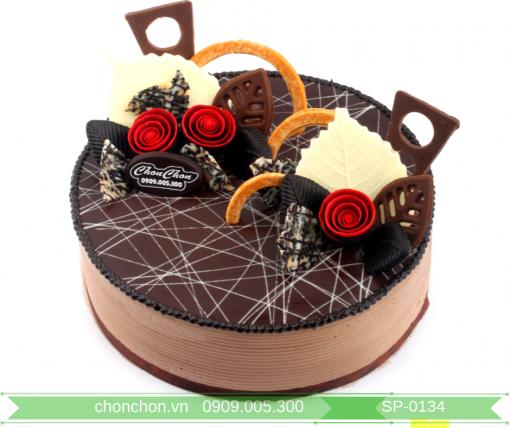 Bánh Kem Phủ SoCoLa Trang Trí Đơn Giản Dễ Thương MS SP-0134