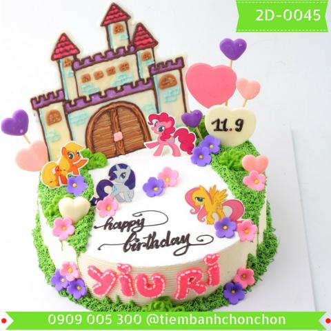 Bánh Kem Sinh Nhật Dành Cho Bé Gái Dễ Thương  MS 2D-0045