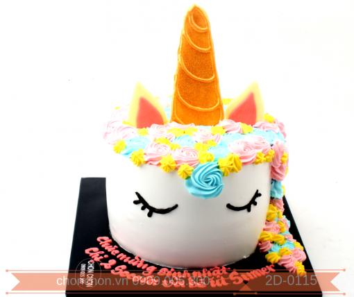 Bánh Kem Sinh Nhật Dành Cho Bé Thích Ngựa Unicorn Pony MS 2D-0115