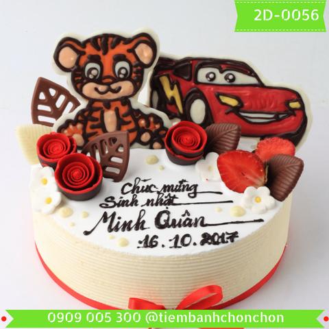 Bánh Kem Sinh Nhật Dành Cho Bé Trai Dễ Thương MS 2D-0056
