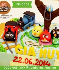 Bánh kem sinh nhật dễ thương cho bé trai Mã Số FD-0005