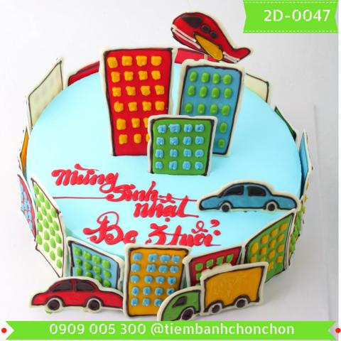 Bánh Kem Sinh Nhật Dễ Thương Dành Cho Bé Tuổi Khỉ MS 2D-0048
