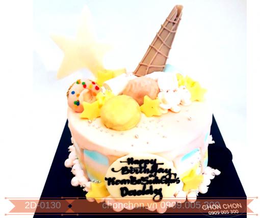 Bánh Kem Sinh Nhật Dễ Thương Ngọt Ngào Dành Tặng Bạn Gái- Bé Gái MS 2D-0130