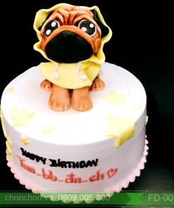 Bánh Kem Sinh Nhật FonDant Dễ Thương Hình Chú Chó MS FD-0071