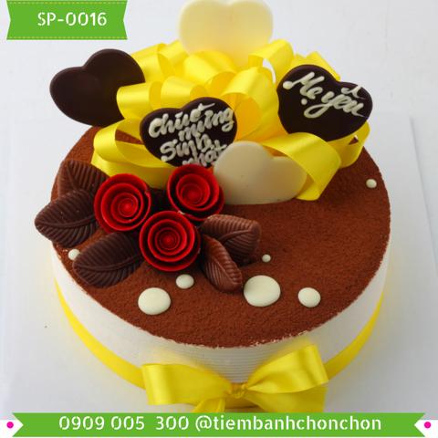 Bánh Kem Sinh Nhật Trang Trí Đơn Giản Sang Trọng MS SP-0016
