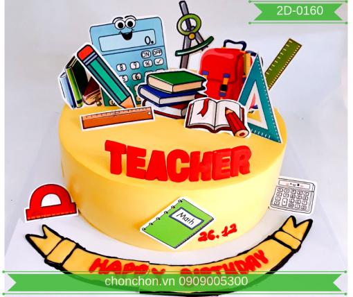 Bánh Kem Tặng Thầy Cô Dễ Thương MS 2D-0160
