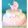 Bánh Kem Thôi Nôi Dễ Thương Dành Cho Bé Gái MS 2D-0133
