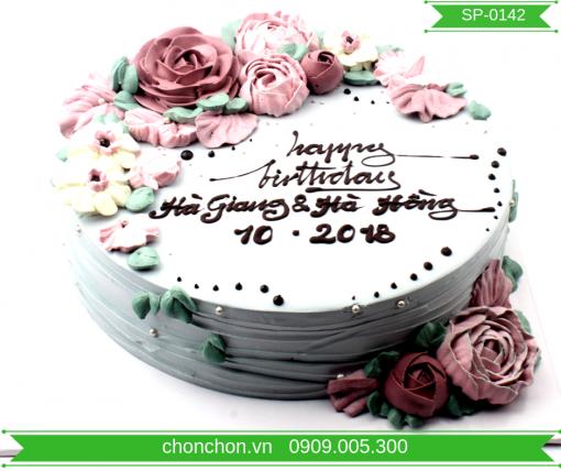 Bánh Kem Trang Trí Bắt Hoa Đơn Giản MS SP-0142