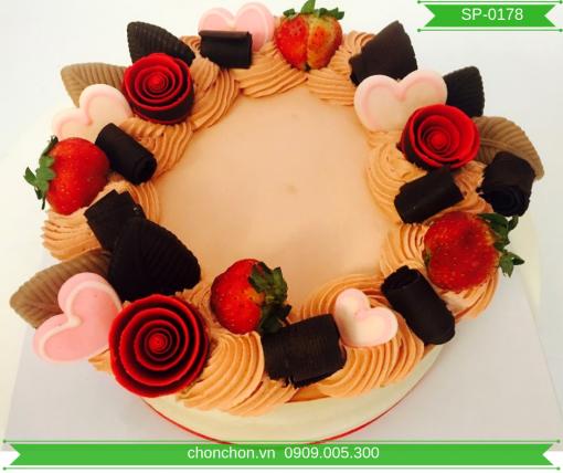 Bánh Kem Trang Trí Đơn Giản Dễ Thương MS SP-0178