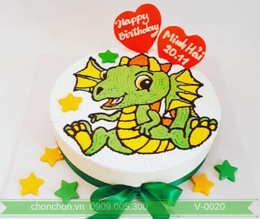 Bánh Kem Vẽ Dành Cho Bé Tuổi Rồng Dễ Thương MS V-0020