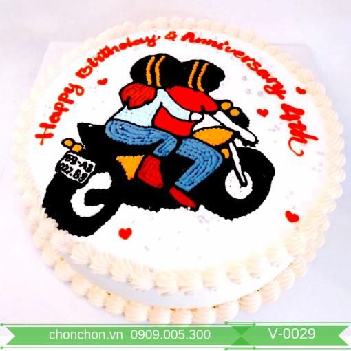 Bánh Kem Vẽ Dễ Thương MS V-0029