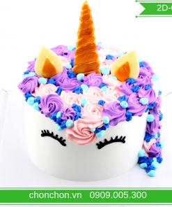 Bánh Kem Vẽ Ngựa Dễ Thương Dành Cho Bé MS 2D-0149
