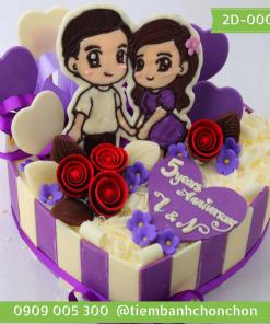 Bánh kỷ niệm ngày cưới chồng tặng vợ vợ tặng chồng mã số 2D-0008
