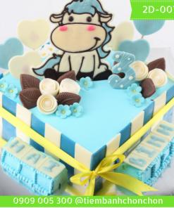 Bánh Sinh Nhật Cho Bé Tuổi Trâu Dễ Thương MS 2D-0075