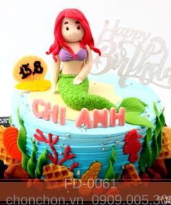 Bánh sinh nhật dành cho bạn gái nàng tiên cá sexy và dễ thương MS FD-0061