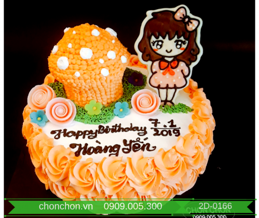 Bánh Sinh Nhật Dành Cho Bé Gái Dễ Thương MS 2D-0166