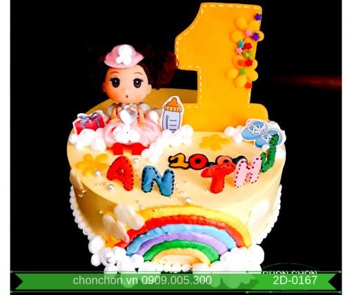 Bánh Sinh Nhật Dành Cho Bé Gái Dễ Thương MS 2D-0167