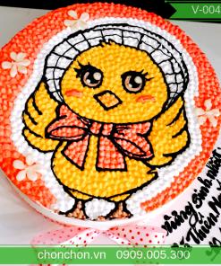 Bánh Sính Nhật Dành Cho Bé Tuổi Gà Dễ Thương MS V-0042