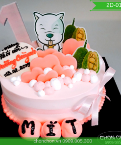 Bánh Sinh Nhật Dễ Thương Cho Bé Gái MS 2D-0188