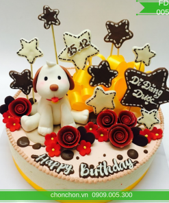 Bánh Sinh Nhật FonDant Dành Cho Bé Tuổi Chó MS FD-0059