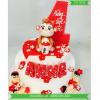 Bánh Sinh Nhật FonDant Dễ Thương Cho Bé Tuổi Khỉ MS FD-0058