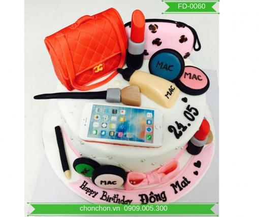 Bánh Sinh Nhật Fondant Đồ Trang Điểm Cho Bạn Gái MS FD-0060