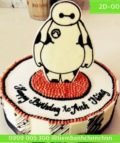 Bánh sinh nhật hoạt hình dễ thương Mã Số 2D-0011