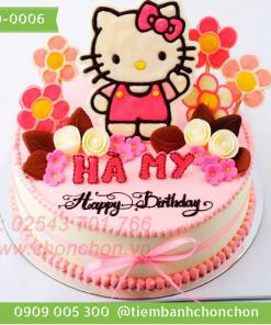 Bánh sinh nhật mèo kitty dễ thương cho bé gái MS-0006