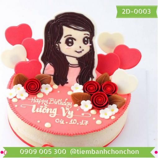 Bánh sinh nhật tặng bạn gái MS 2D-0003