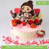 Bánh sinh nhật tặng bạn gái tặng người yêu mã số 2d-0010
