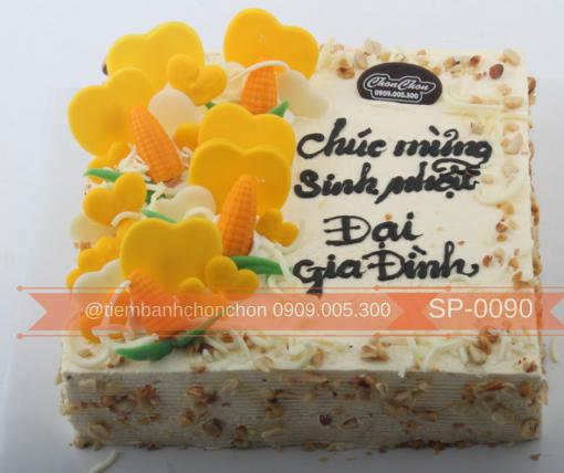 Bánh sinh nhật tặng gia đình bánh kem bắp Mã số SP-0090